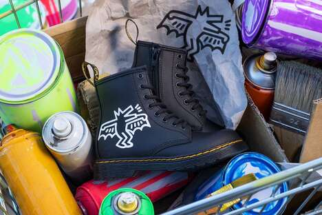 Artist-Collaborative Rugged Footwear
