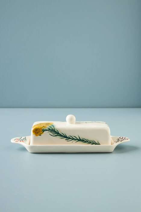 Delicate Floral Butter Dishes