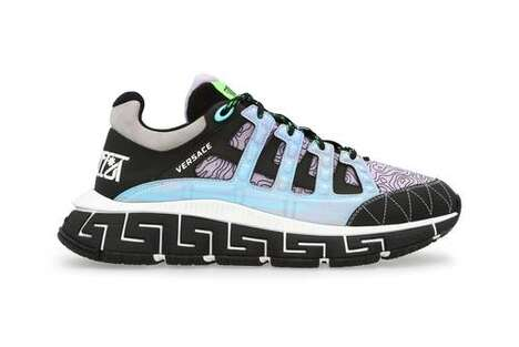 Dramatic Patterned Luxe Sneakers