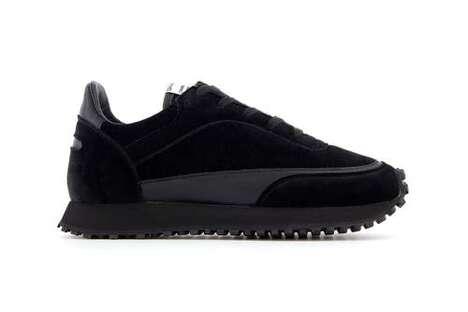 Velvety Dark Tonal Sneakers