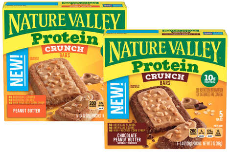 Dual-Textured Protein Bars
