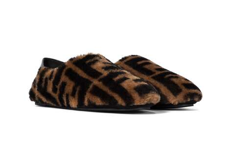 Fuzzy Branded Indoor Shoes