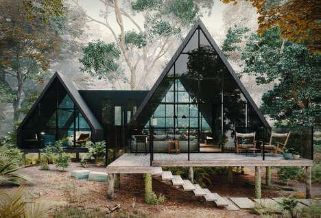 Ultra-Modern A-Frame Cabins