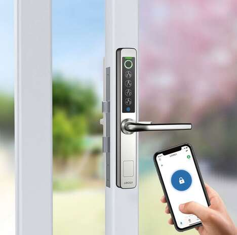 Glass Door Smart Locks