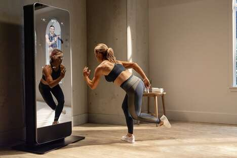 Equipment-Holding Fitness Mirrors