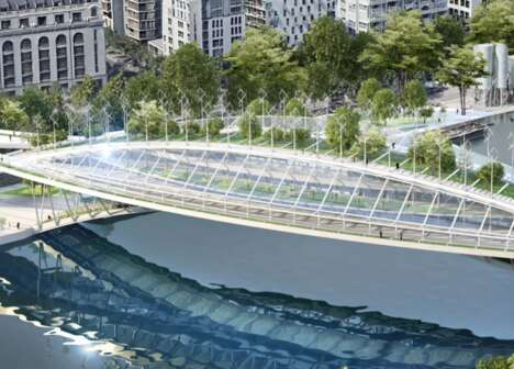 Greenery-Laden Urban Footbridges