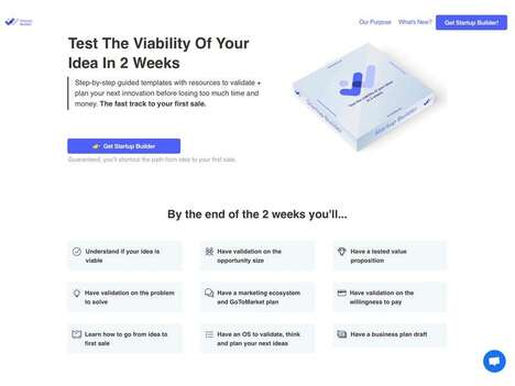 Idea-Validating Startup Solutions - 'Startup Builder' Tests the Viability of an Idea in Two Weeks
