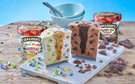 Dough Center Ice Creams - Ben & Jerry's Cookie Dough Twist Comes in Two Flavor Options