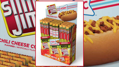QSR-Themed Meat Snacks - The Slim Jim Chili Cheese Coney-Flavored Meat Sticks are Tasty