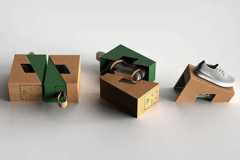 Sustainable Shoebox Designs - The Conceptual 'Standbox' Shoebox Protects, Carries and Displays Shoes