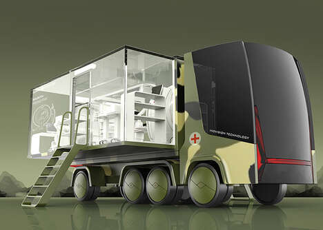 Hospital-Equipped Vehicles - This Mobile Hospital Concept by Dors Liu Brings Healthcare Anywhere