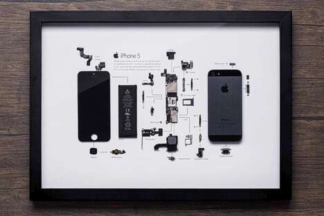 Deconstructed Smartphone Artwork