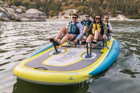 Pedal-Powered Four-Person Kayaks