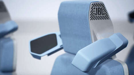 Audio-Integrated Car Headrests