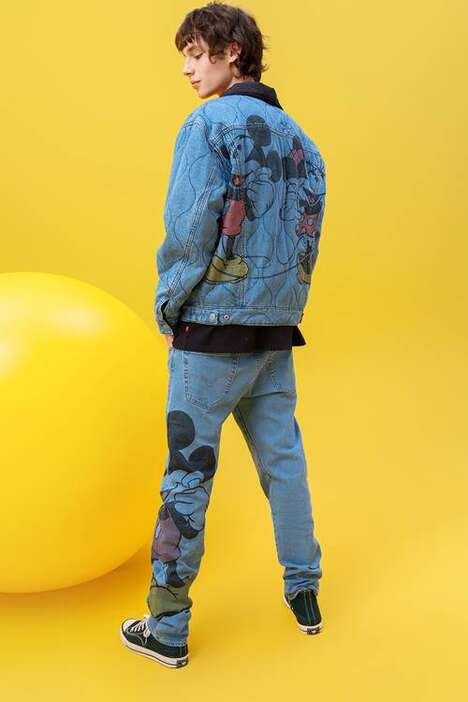 Cartoon-Adorned Denim Collections