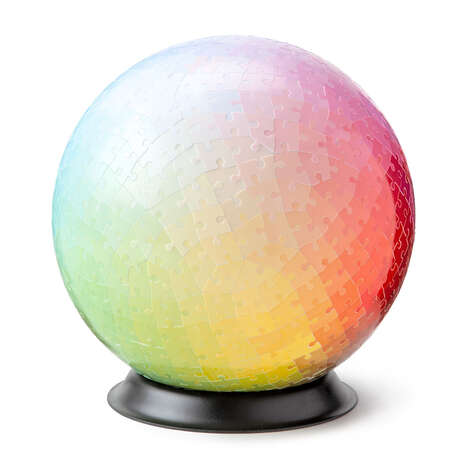 Spherical Color Gradient Puzzles