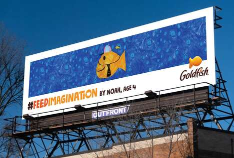Child-Drawn Snack Billboards