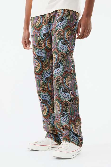 Expressive Paisley Jeans