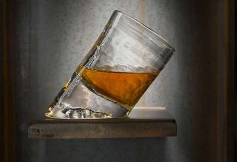 Slanted Whiskey Glasses