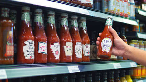 Hand-Drawn Ketchup Bottles