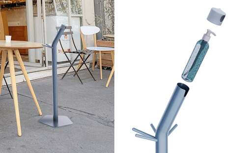 Dual-Purpose Sanitizer Stands
