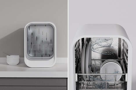 Space-Saving Desktop Dishwashers