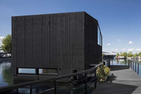 Timber-Sheathed Floating Homes