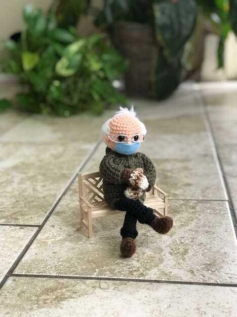 Inauguration-Themed Crochet Dolls
