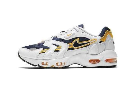 Golden-Tinged Retro Footwear