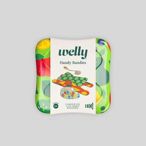 Bright Veggie-Themed Bandages - The Welly Handy Bandies Veggie Offers Flex Fabric Bandages