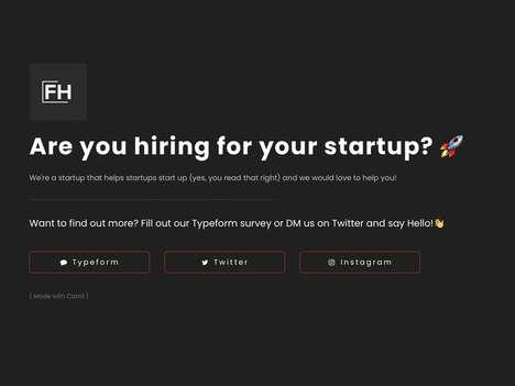 Startup Employment Platforms