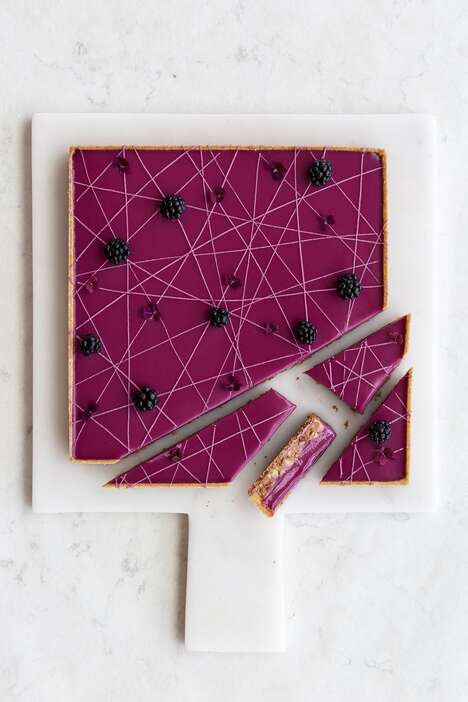 Geometric Blackberry Desserts