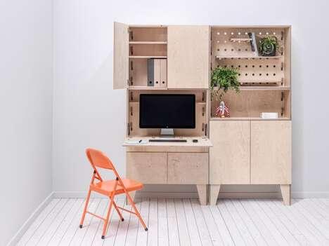 Mini Custom Wooden Workstations