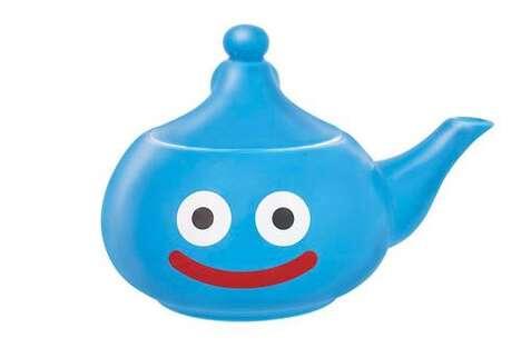 Dramatic Cartoon-Detailed Teapots