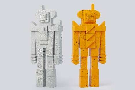 Robot-Like Artful Sculptures