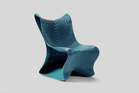 Undulating 3D-Printed Chairs