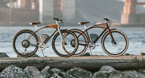 Wood-Accented Electric Cruiser Bikes