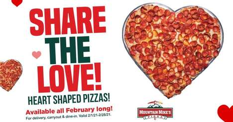Festive Heart-Shaped Pizzas