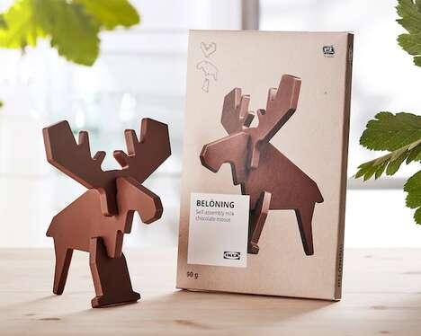 Flat-Pack Animal Chocolates