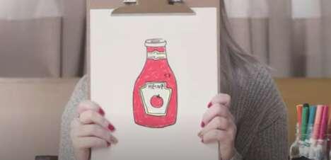 Drawing Ketchup Ad Spots