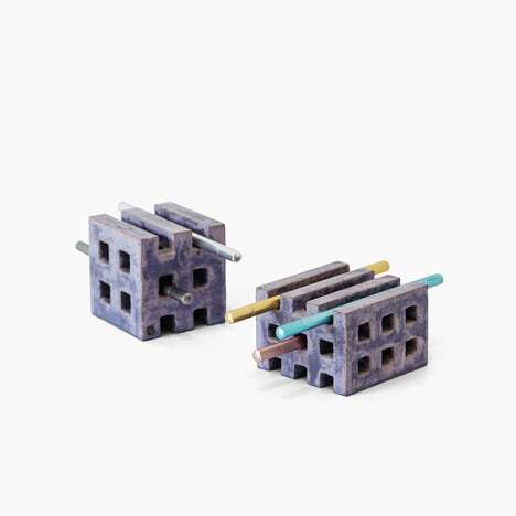 Architectural Pen Holders