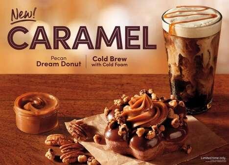 Star-Shaped Caramel Pecan Donuts