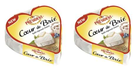 Heart-Shaped Brie Cheeses