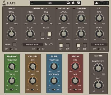 Percussive Digital Drum Machines