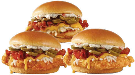 Cheesy Piquant Chicken Sandwiches