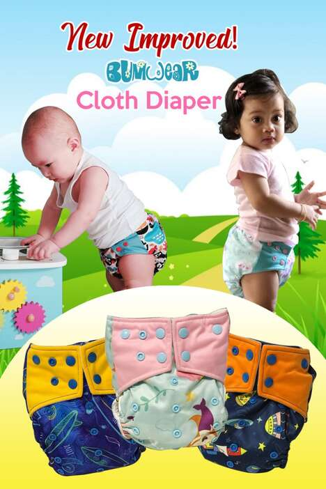 Single Size Cloth Diapers