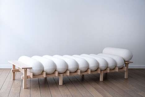 Minimalist Tubular Cushion Daybeds