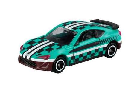 Anime-Themed Vibrant Toy Cars