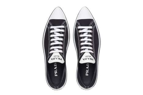 Pointy Luxury Label Sneakers