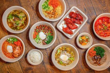 Streamlined Korean Takeout Menus